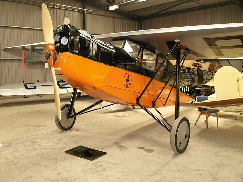 Desoutter aircraft similar to the taxi plane Amelia took to Blackpool.